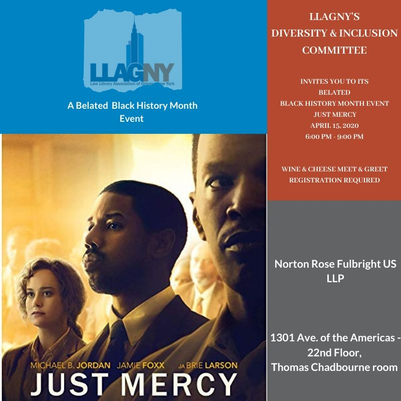 Just Mercy movie flyer